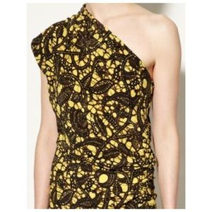 Thakoon Batik Print One Shoulder Dress